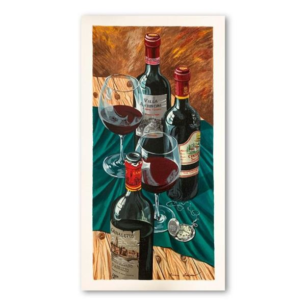 """Dima Gorban, """"Table for Two"""" Hand Signed Limited Edition Serigraph on Paper with"""