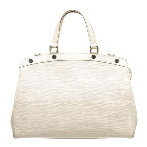 Louis Vuitton White Epi Leather Brea MM Satchel Shoulder Bag