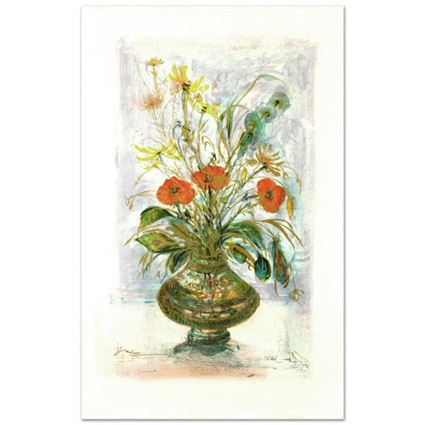 """""""Amapola"""" Limited Edition Lithograph by Edna Hibel (1917-2014), Numbered and Han"""
