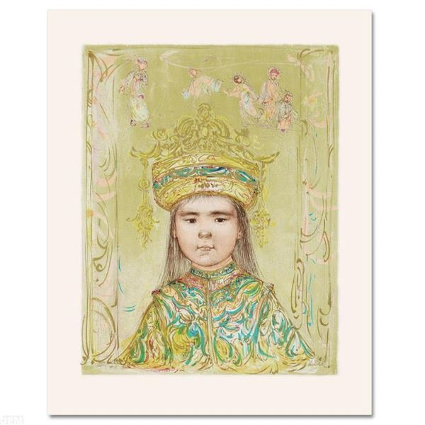 """""""Oriental Daydream"""" Limited Edition Lithograph by Edna Hibel (1917-2014), Number"""