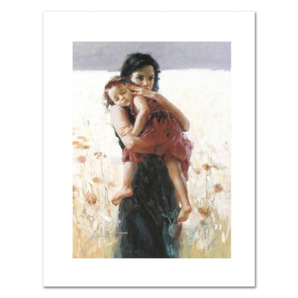 """Pino (1931-2010), """"Maternal Instincts"""" Limited Edition on Canvas, Numbered and H"""