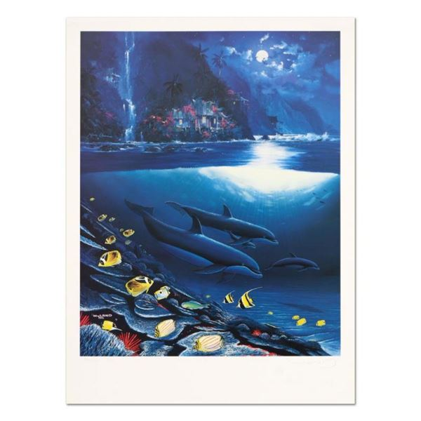 """Wyland, """"Paradise"""" Limited Edition Lithograph, Numbered and Hand Signed with Cer"""