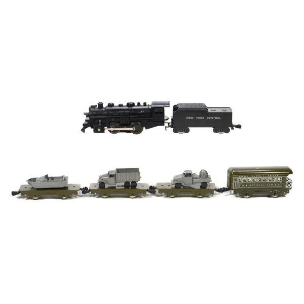 Marx 4065 Army Supply Train Set with flat car loads