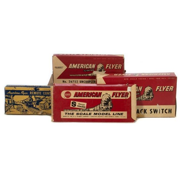 American Flyer Boxed Switches and Uncouplers