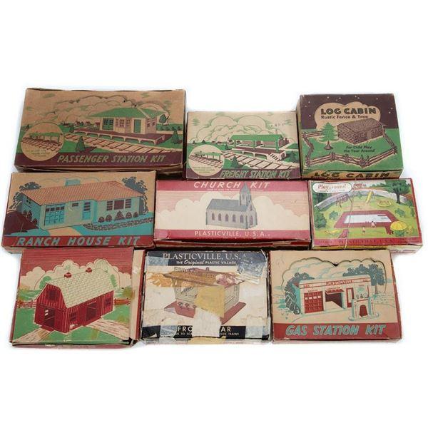 Plasticville Kits in original boxes