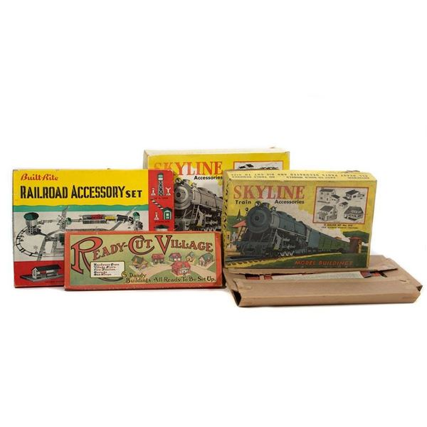Skyline and Terre Town Cardboard Railroad Accessories