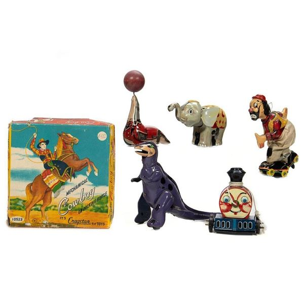 Flintstones Dino, Seal, Elephant, Cowboy, Skater, Loco