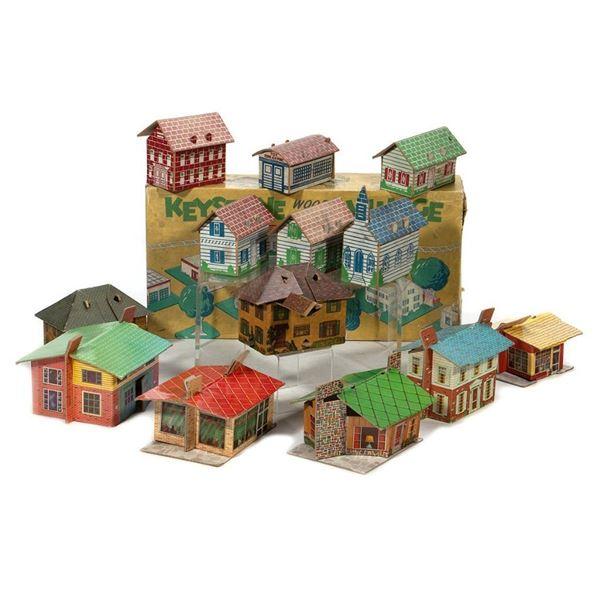 Minitown, Toy Town & Keystone Train Accessory Buildings