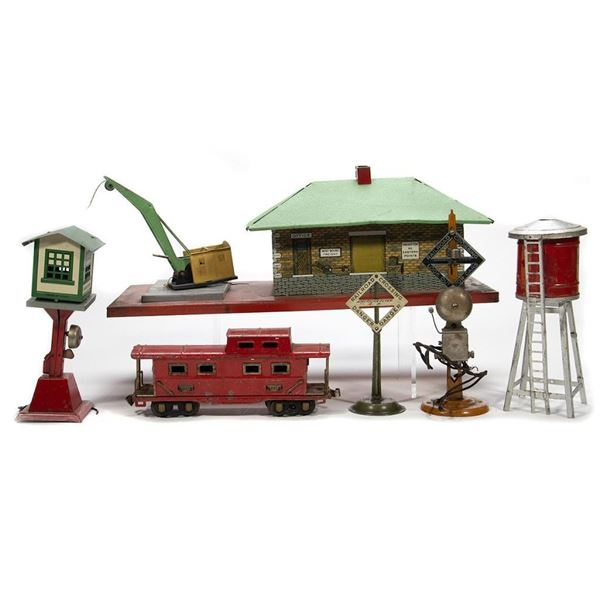 Gilbert and Chicago American Flyer O gauge tinplate project pieces