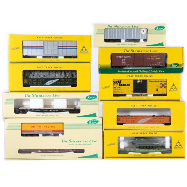 American Models and Showcase Line S Gauge Freight Cars