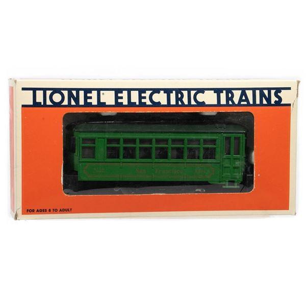 Lionel O Gauge 6-18404 San Francisco Trolley