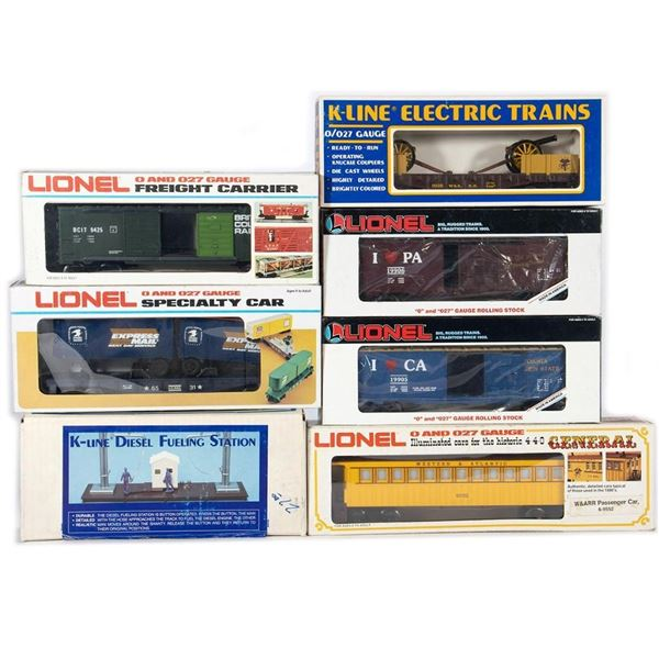 Lionel and K-Line O Gauge Rolling Stock and Access