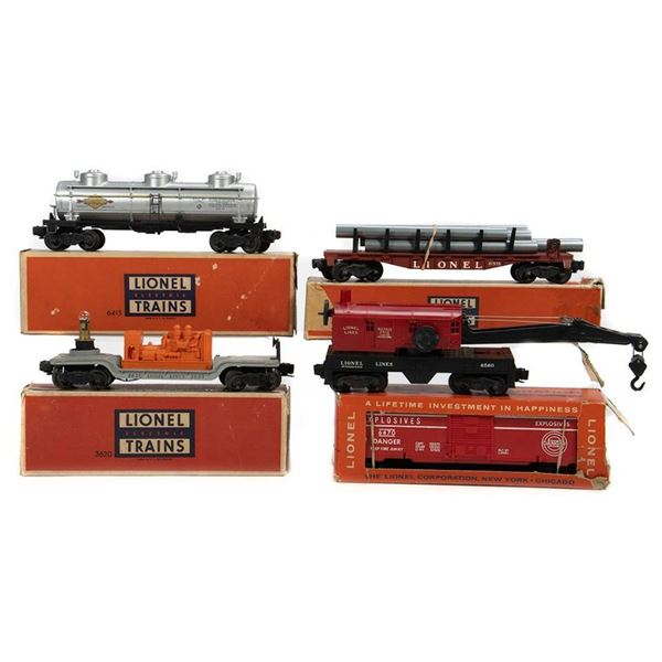 Lionel 6470, 6560, 6611, 3620 Freight Cars