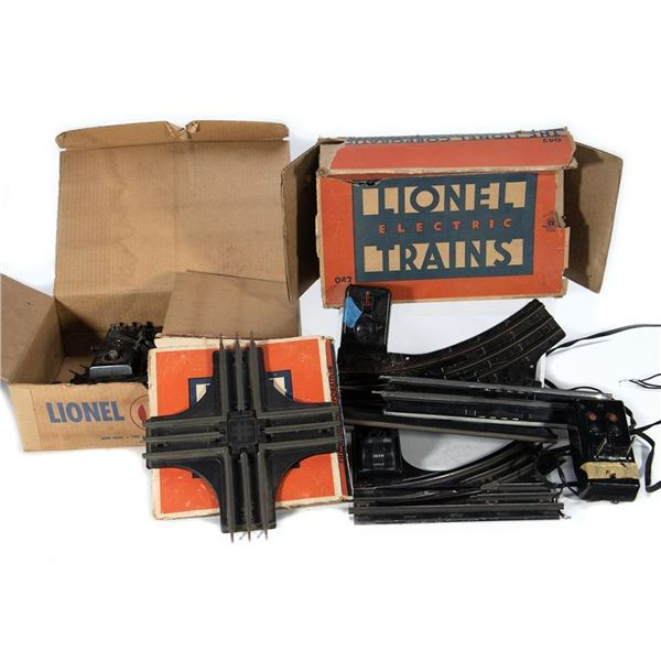 Lionel O-42 Pair Switches, O-22 Pair Switches, O-22 Left Switch, O-20 Crossing, (4) Remote Control T