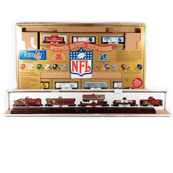 HO Scale 49ers Commemorative Set, NFL Super Bowl Express