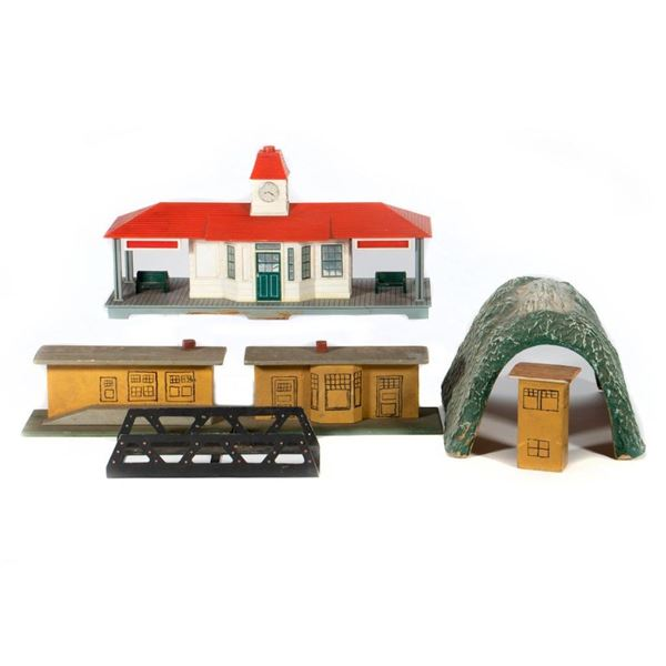 Noma Station, Passenger Station (wood), wood freight Station, Wood Signal Tower, Paper Mache Tunnel,