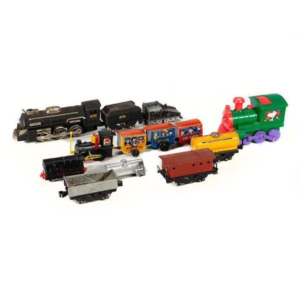 Mixed train cars
