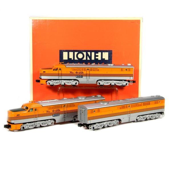 Lionel 6-18107 O Gauge Denver and Rio Grande PA-PB-PA Set