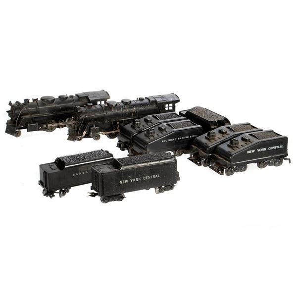 O Gauge Marx Die Cast 333, 666 and (6) tenders without locomotives