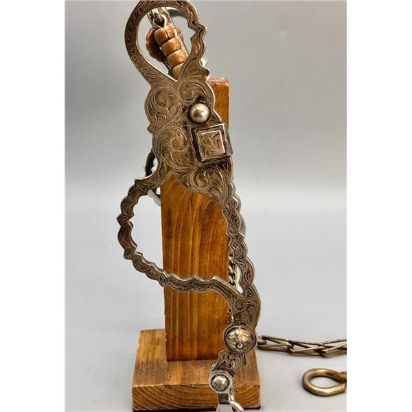 Norm Vogt High Port Bit with Rein Chains