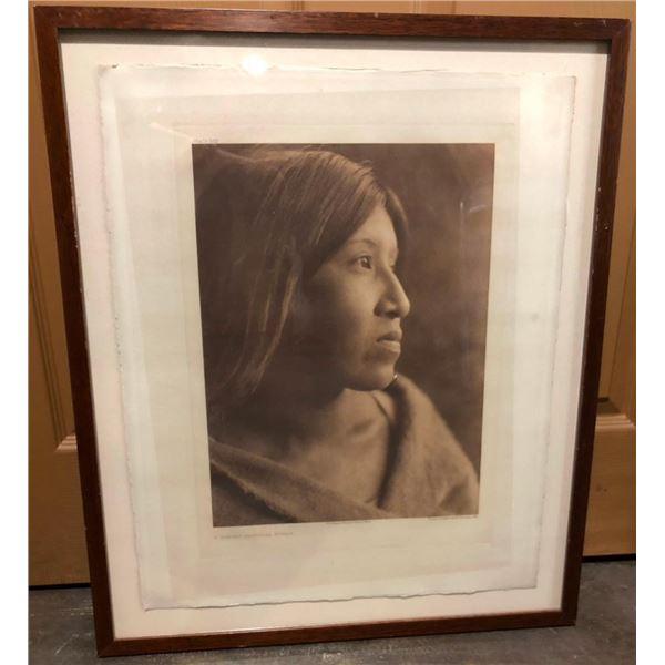Edward Curtis Photogravure - A Desert Cahuilla Woman -1924