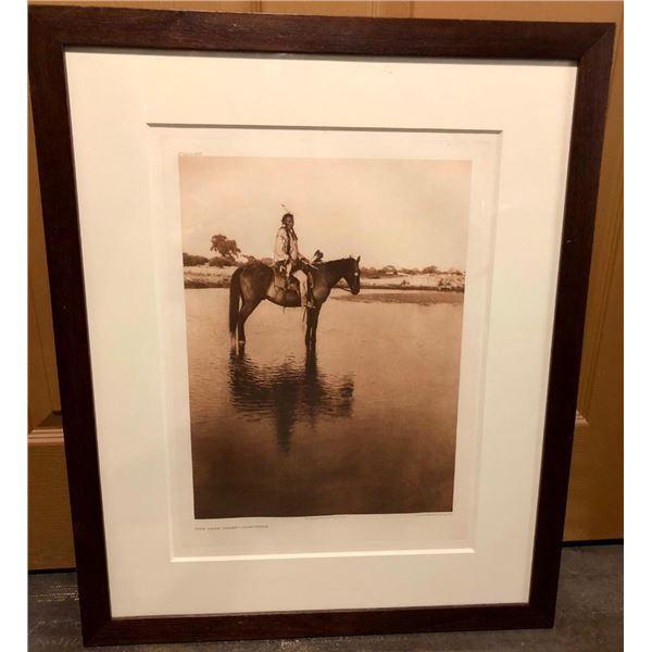 Edward Curtis Photogravure - The Lone Chief- Cheyenne 1927