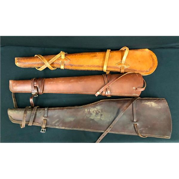 Three Leather Rifle Scabbards