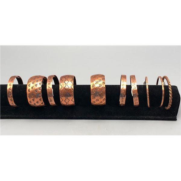 Group of 10 Copper Bracelets
