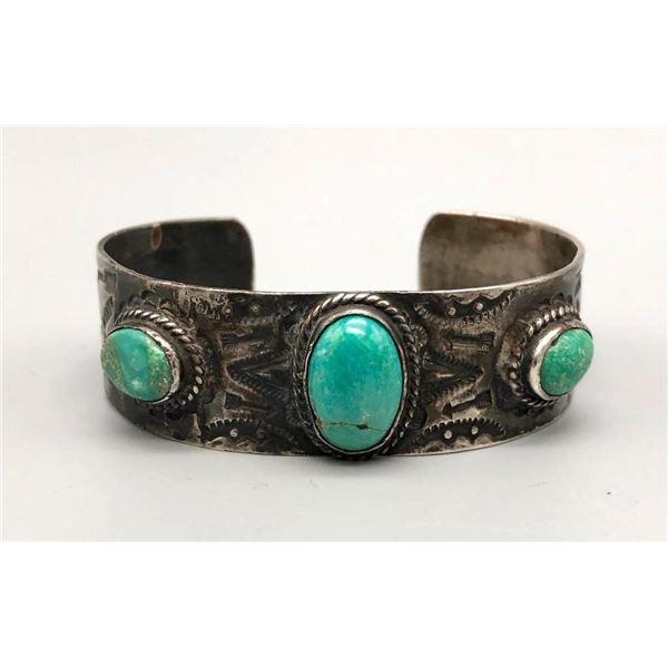 1930s Era Turquoise Bracelet