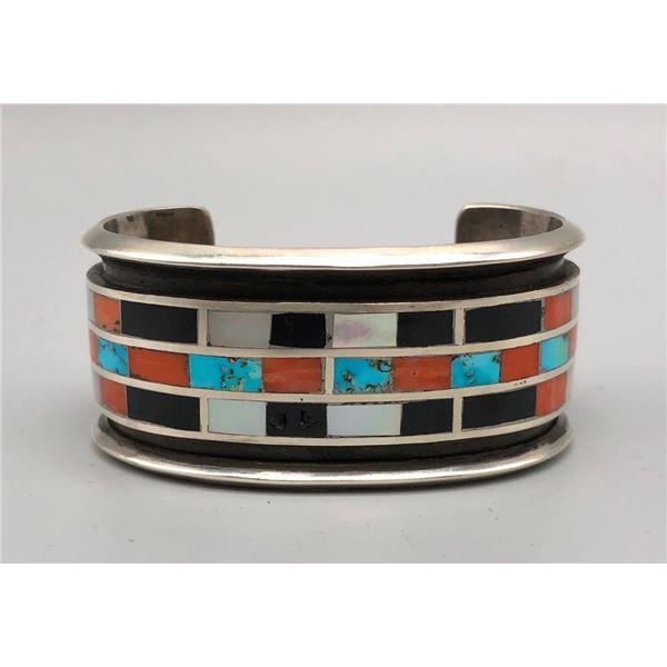 Captivating Vintage Channel Inlay Bracelet