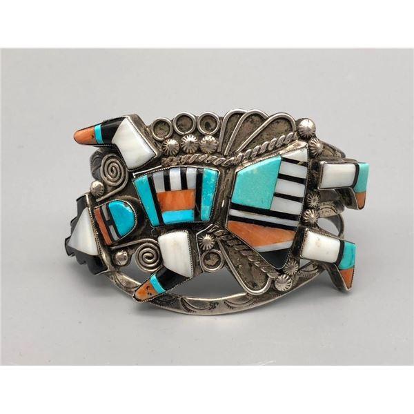 Detailed Rainbow Man Inlay Bracelet