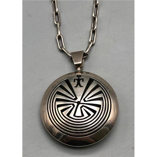 Double Sided Hopi Pendant and Handmade Chain