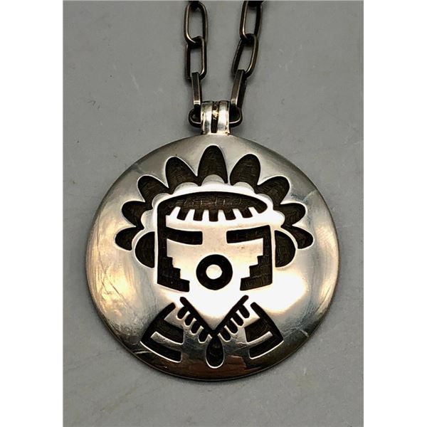 Hopi Overlay Necklace and Handmade Chain