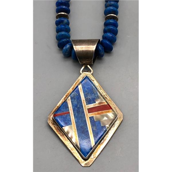 Santo Domingo Denim Lapis Necklace- Coriz