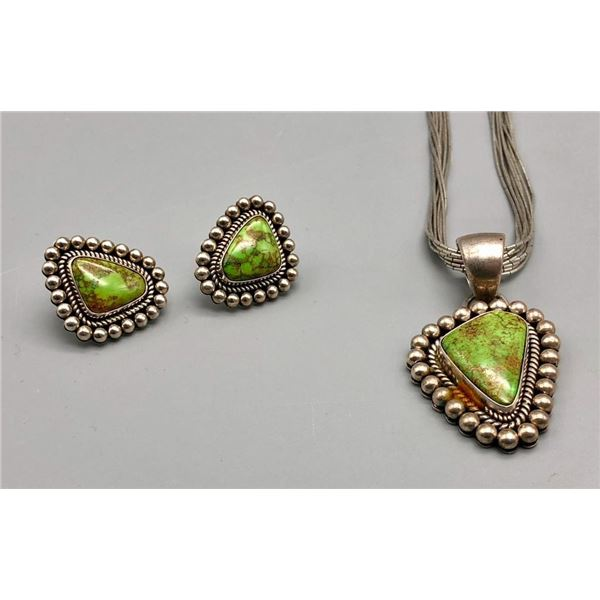 Gorgeous Gaspiete Necklace and Earring Set by Little Yellowhorse