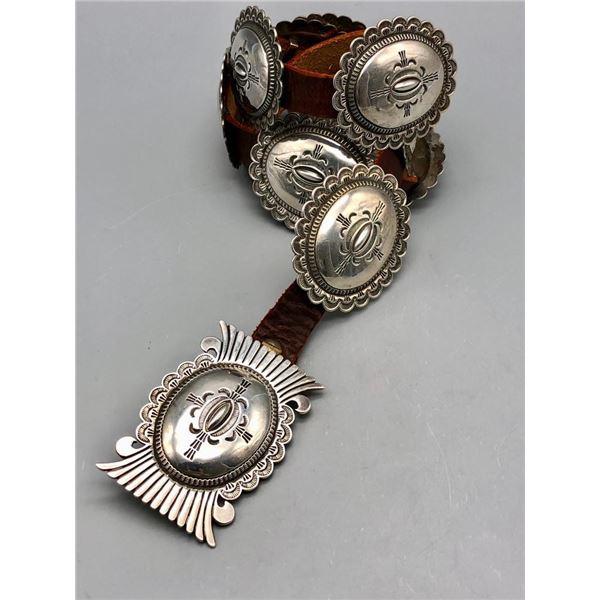 Ideal Heavy Duty Sterling Silver Concho Belt