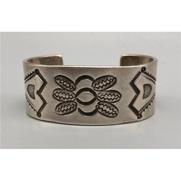 Incredible Heavy Stamped Sterling Silver Bracelet