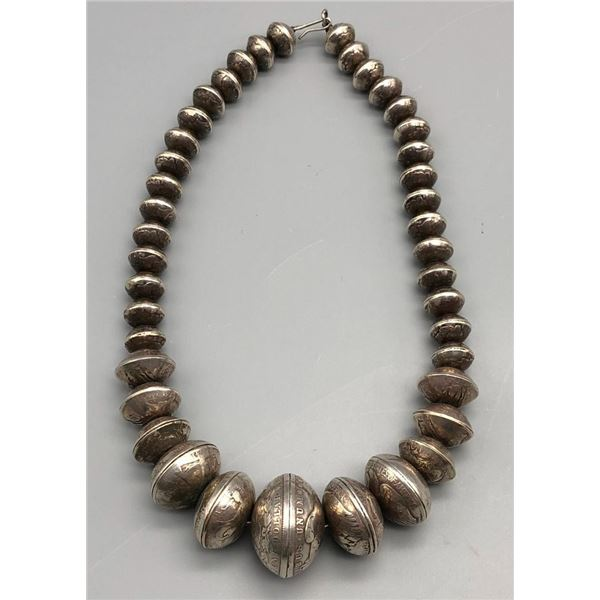 Coin Beads - Navajo Pearls Necklace