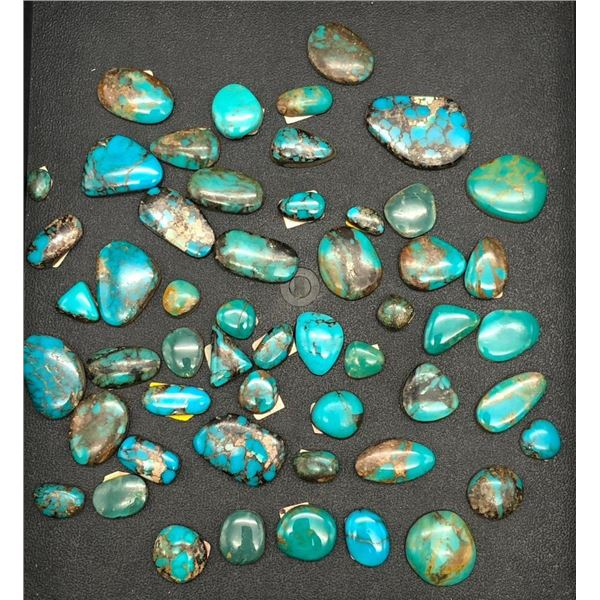 Turquoise Cabochons - Old Blue Gem