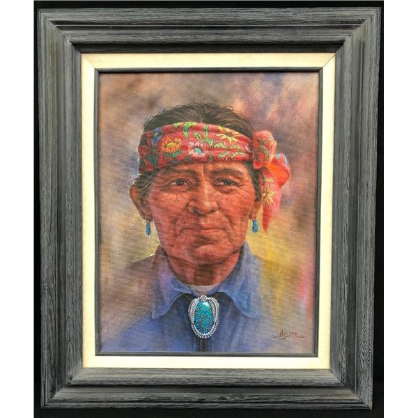 Original Oil Painting by Jimmy Abeita - Man with Headband