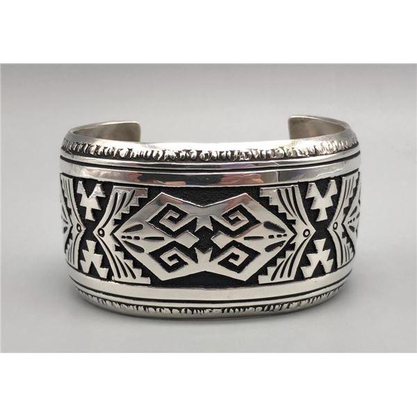Rug Pattern Sterling Silver Bracelet - Tommy Singer