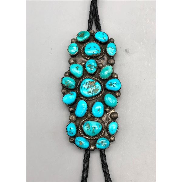 Tempting Turquoise Cluster Bolo Tie