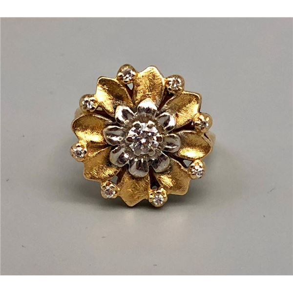 Antique Estate 14k Gold and Diamond Ring