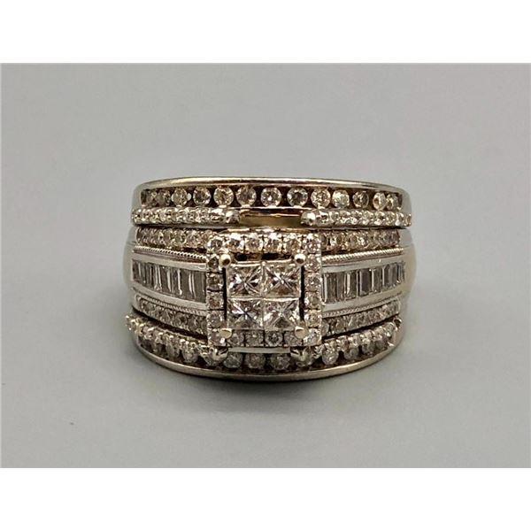 14k White Gold and Diamond Wedding Set