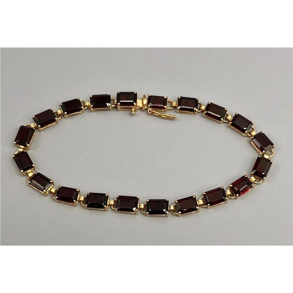 14k Gold and Garnet Tennis Bracelet