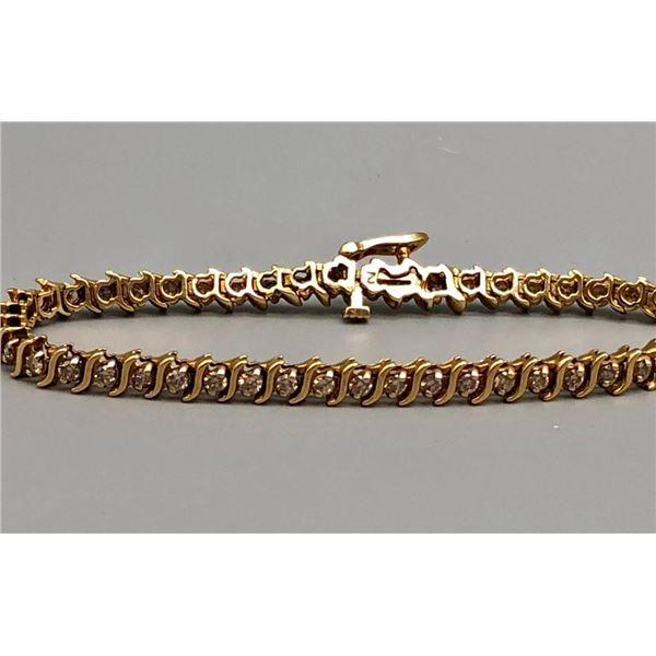 14k Gold and 2ct Diamond Tennis Bracelet