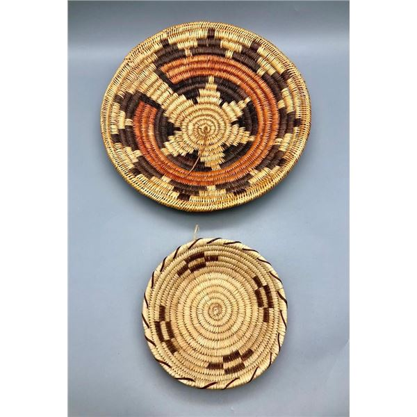Two Native American Baskets - 1 Navajo and 1 Tohono O'odham