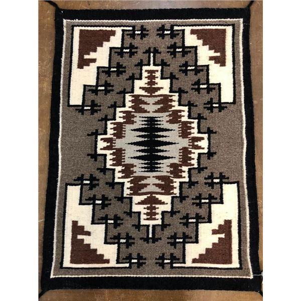 Two Grey Hills Navajo Textile - Little Ben
