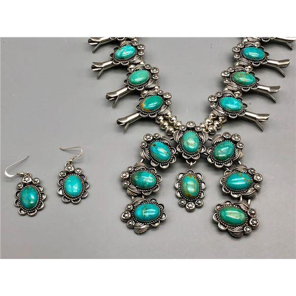 Turquoise Squash Blossom Necklace Set