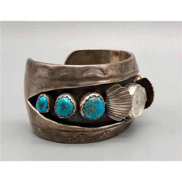 Six Stone Turquoise Watch Bracelet